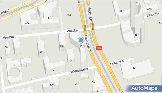 Warszawa, Towarowa, 35, mapa Warszawy