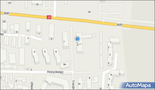 Lipno, Traugutta, 2, mapa Lipno