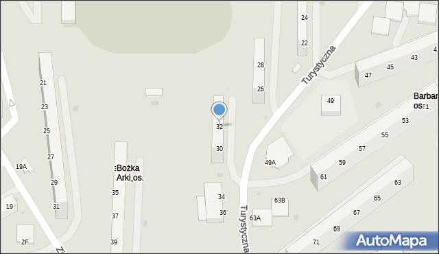 Jastrzębie-Zdrój, Turystyczna, 32, mapa Jastrzębie-Zdrój
