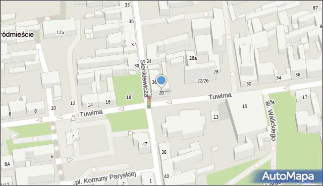 Łódź, Tuwima Juliana, 20, mapa Łodzi