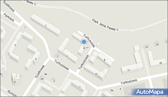 Lublin, Turkusowa, 6, mapa Lublina