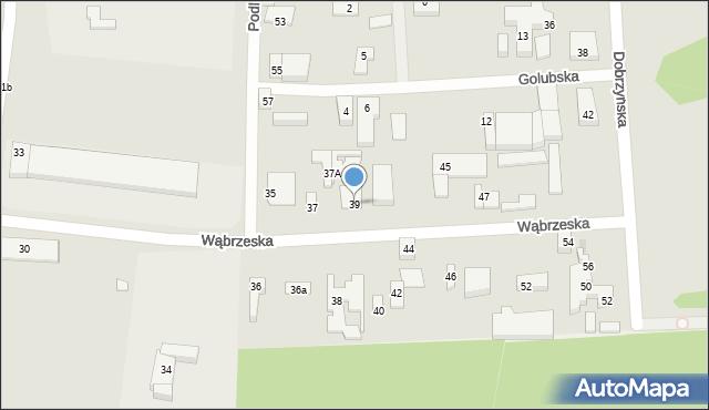 Bydgoszcz, Wąbrzeska, 39, mapa Bydgoszczy