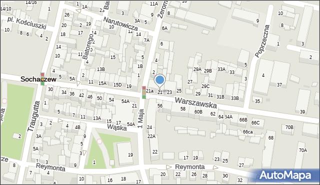 Sochaczew, Warszawska, 21, mapa Sochaczew
