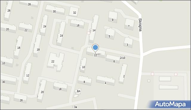 Białystok, Witosa Wincentego, 12, mapa Białegostoku