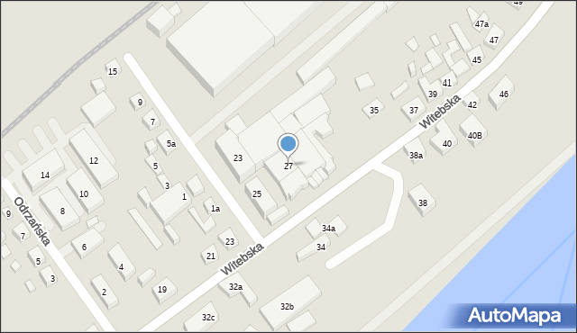 Bydgoszcz, Witebska, 27, mapa Bydgoszczy