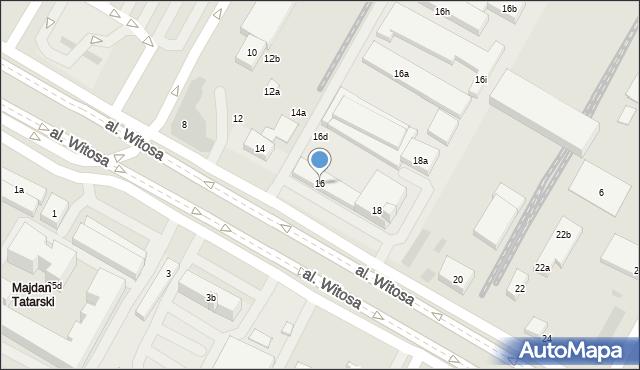 Lublin, Witosa Wincentego, 16, mapa Lublina