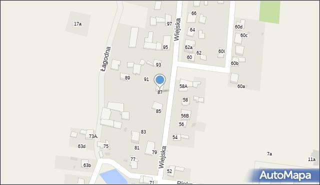 Rachowice, Wiejska, 87, mapa Rachowice