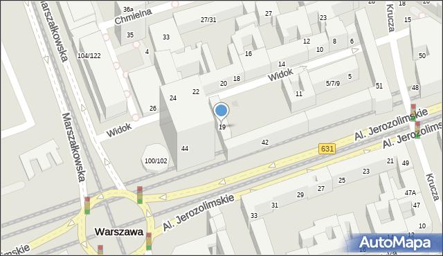 Warszawa, Widok, 19, mapa Warszawy