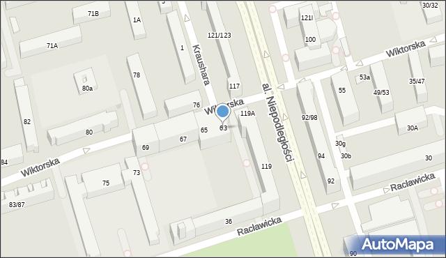 Warszawa, Wiktorska, 63, mapa Warszawy