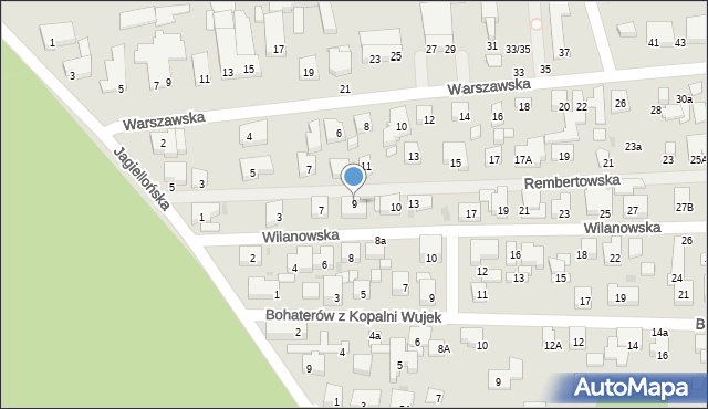 Warszawa, Wilanowska, 9, mapa Warszawy
