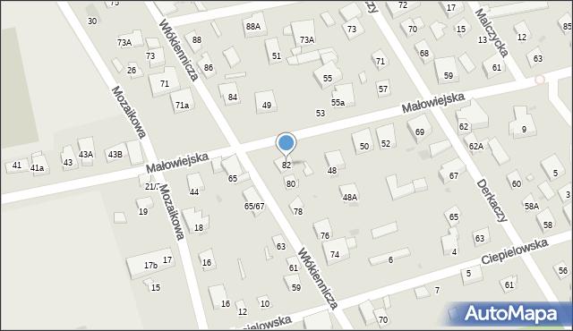 Warszawa, Włókiennicza, 82, mapa Warszawy