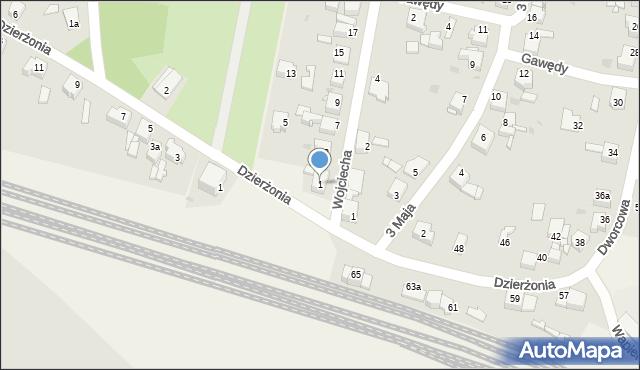 Nakło Śląskie, Wojciecha, 1, mapa Nak�