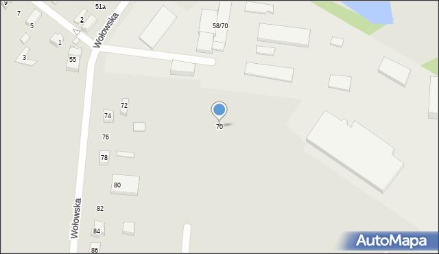 Poznań, Wołowska, 70, mapa Poznania