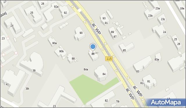 Szczecin, Wojska Polskiego, 86, mapa Szczecina