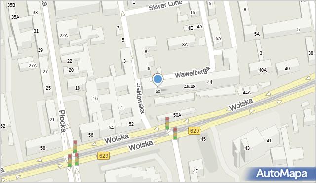 Warszawa, Wolska, 50, mapa Warszawy