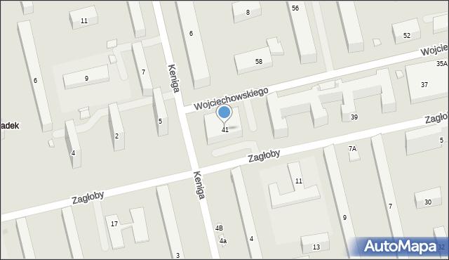 Warszawa, Wojciechowskiego Stanisława, 41, mapa Warszawy