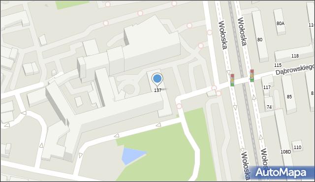 Warszawa, Wołoska, 137, mapa Warszawy