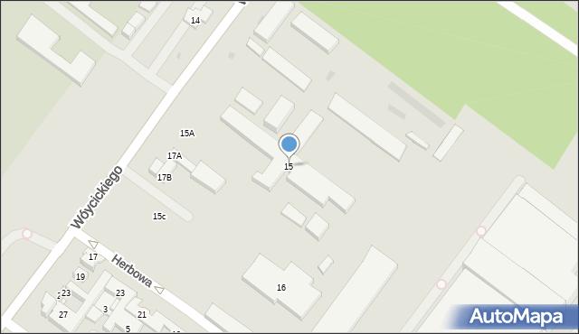 Warszawa, Wóycickiego Kazimierza, 1-3, mapa Warszawy