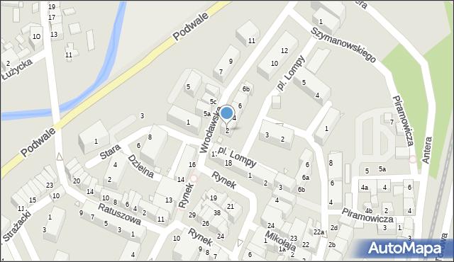 Lubań, Wrocławska, 2, mapa Lubań