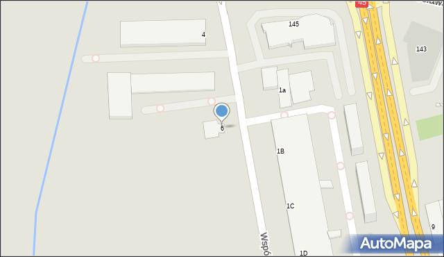 Opole, Wspólna, 6, mapa Opola