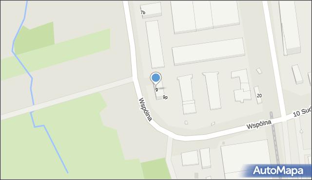 Opole, Wspólna, 9, mapa Opola