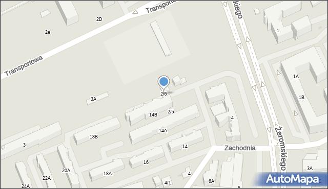 Białystok, Zachodnia, 2/6, mapa Białegostoku