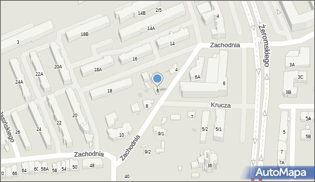Białystok, Zachodnia, 6, mapa Białegostoku