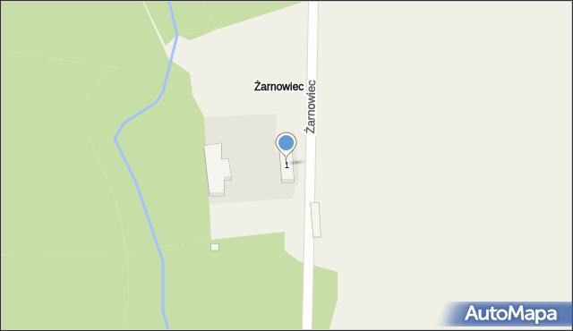 Dopiewo, Żarnowiec, 1, mapa Dopiewo