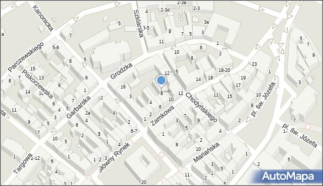 Kalisz, Zamkowa, 8, mapa Kalisza