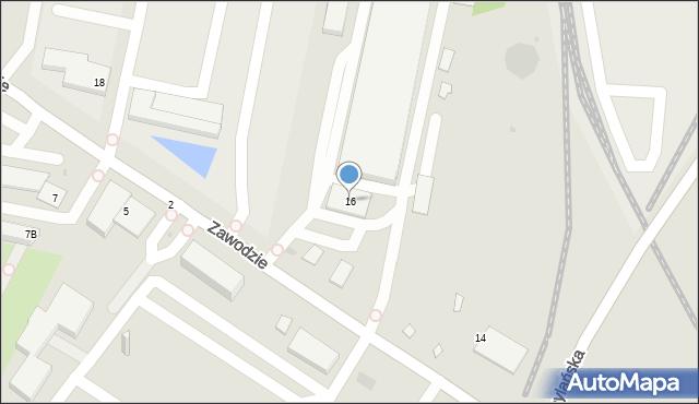 Warszawa, Zawodzie, 16, mapa Warszawy