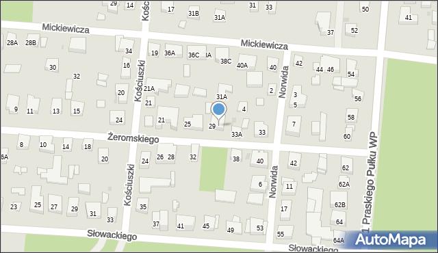 Warszawa, Żeromskiego Stefana, 31, mapa Warszawy