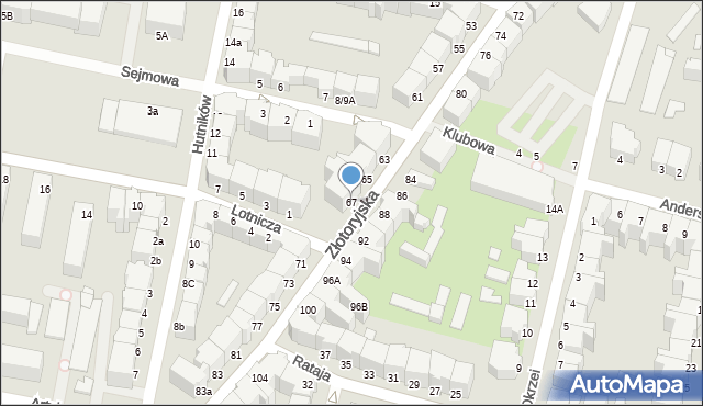 Legnica, Złotoryjska, 67, mapa Legnicy