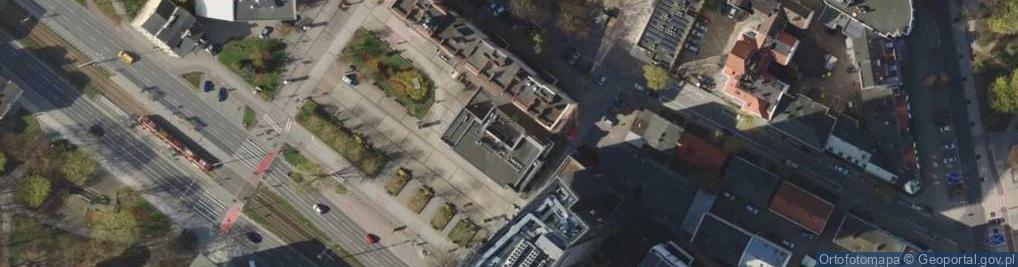 Zdjęcie satelitarne Aleja Grunwaldzka 105