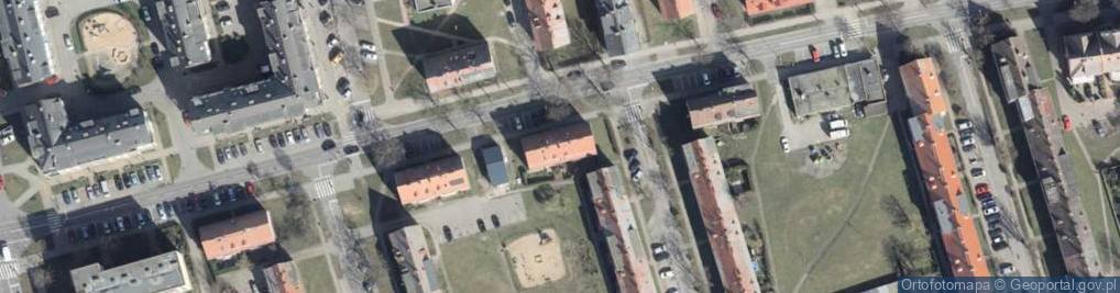 Zdjęcie satelitarne Bankowa 10