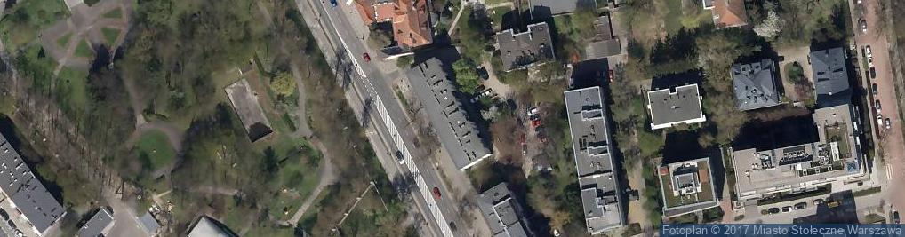 Zdjęcie satelitarne Belwederska 44A
