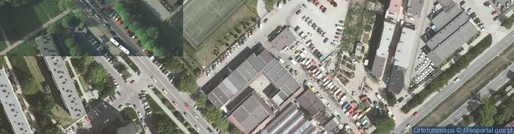 Zdjęcie satelitarne Bieńczycki Plac Targowy 18