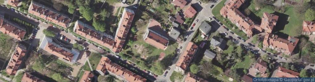 Zdjęcie satelitarne Braterska ul.