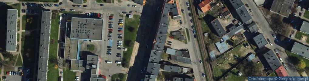 Zdjęcie satelitarne Chełmińska 61