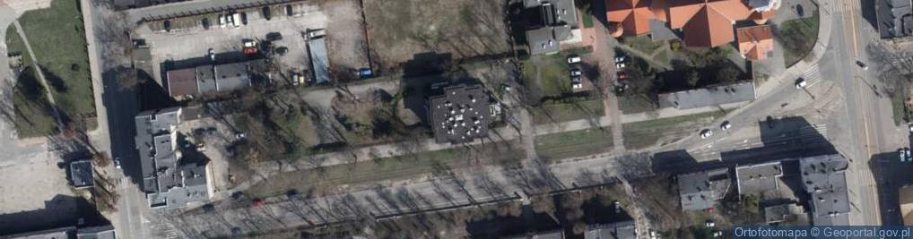 Zdjęcie satelitarne Czerwona ul.