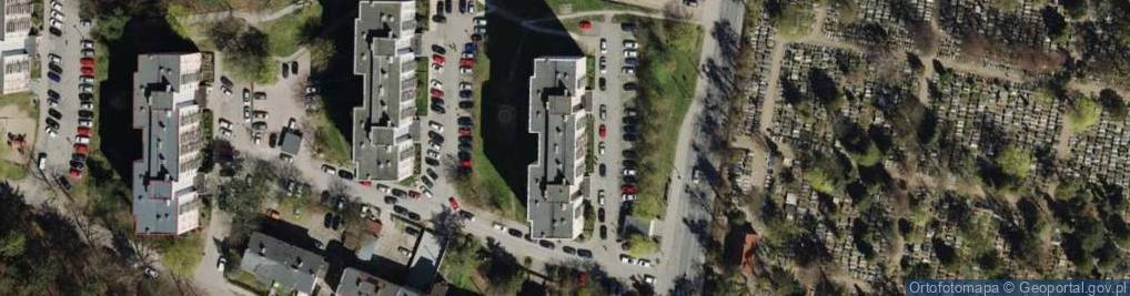 Zdjęcie satelitarne Gdańca Pawła ul.