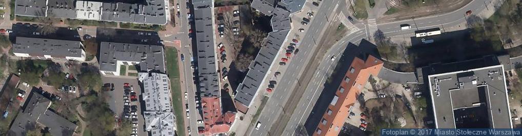 Zdjęcie satelitarne Grójecka 42