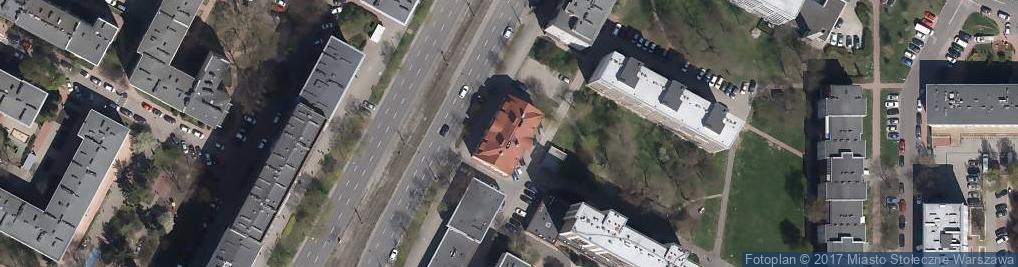 Zdjęcie satelitarne Grójecka 75