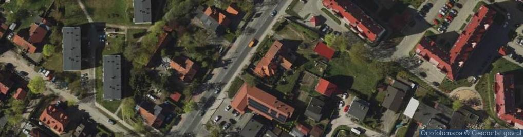 Zdjęcie satelitarne Jagiellońska 72