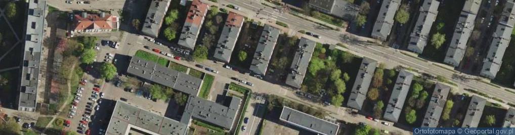 Zdjęcie satelitarne Katowicka 41