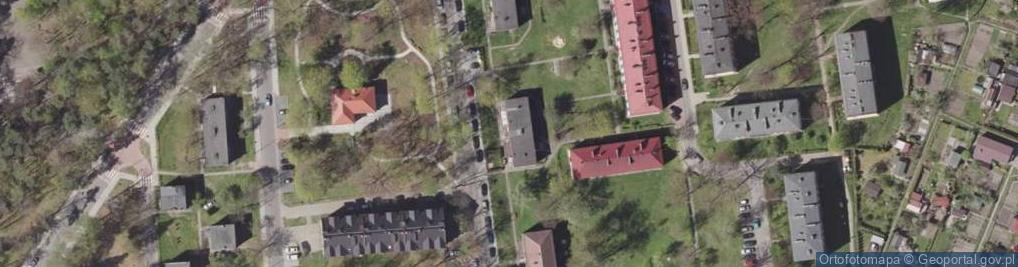 Zdjęcie satelitarne Klonowa 6