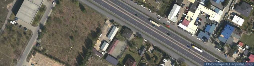 Zdjęcie satelitarne Kolejowa 105