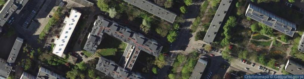 Zdjęcie satelitarne Komandorska ul.