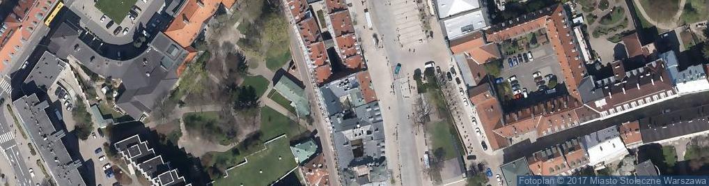 Zdjęcie satelitarne Krakowskie Przedmieście 55