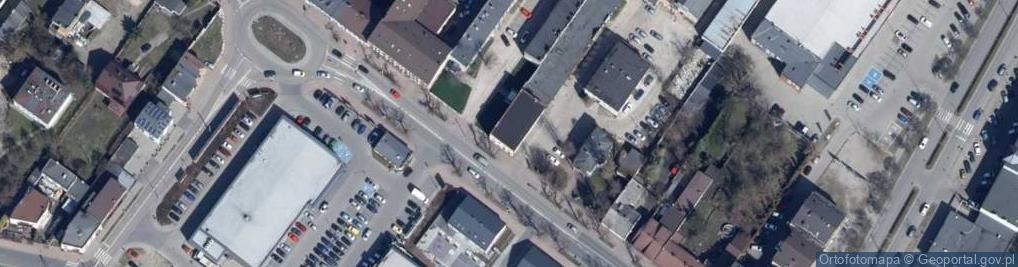 Zdjęcie satelitarne Łaska 43