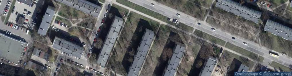Zdjęcie satelitarne Lutomierska 156